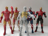 "20set  New Arrival action Iron Man 3 figures 5pcs a set led lighting 5"" The Avengers 13.5cm free shipping"