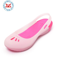 Cymbidium pedicled Discoloration hole shoes sandals flat sandals and slippers shoes Garden shoes woman jelly shoes
