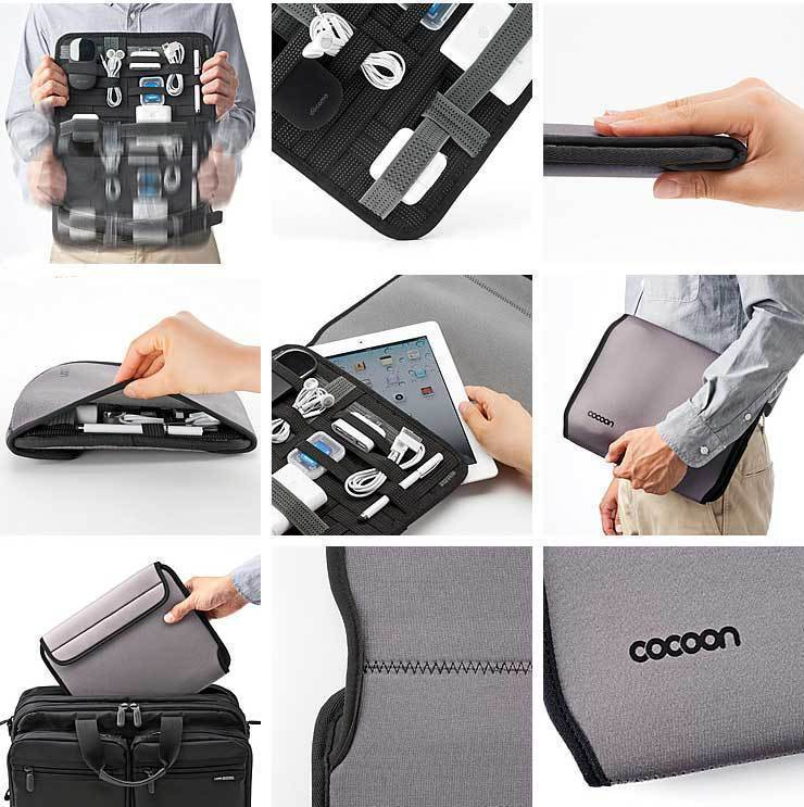 GRID-IT PAD WRAP ORGANIZER Laptop Case Bag Organizer for iPod iPhone Electronics Luggage Laptop Travel Case ,Free Shipping!(China (Mainland))