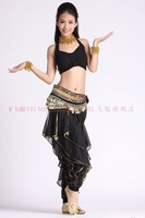 belly dance dancing yoga tops+spiral pants skirt +diamond hip scarf costume 3pcs/set stage wear clothing