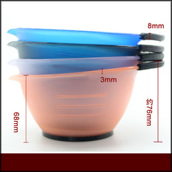 Hair Tint Bowl with scale salon tint bowl hair dye bowl hair dye tools 4 colour Excellent 100PCS/LOT NEW(China (Mainland))