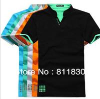 New 2014 men t shirts Men sports t shirt fashion short sleeve casual polo shirts brand cotton top quality tops & tee