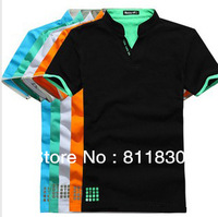 New 2013 men t shirts Men sports t shirt fashion short sleeve casual polo shirts brand cotton top quality tops & tee