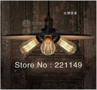 High Quality! Northern Europe industry style Pendant Lights,Iron Classical Three head Classical Loft Hanging Lamp. FREE SHIPPING