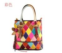 women 2013 new fashion brand leather handbags handbags leather shoulder bag Free International splicing