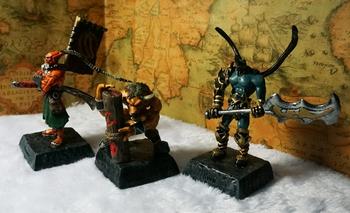 Resin World of warcraft Dota --Blade Master Swain God cattle Action figures 3 pcs/set  Free shipping
