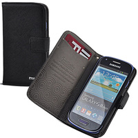 1pcs/lot Book Leather Stand Case Wallet Skin Cover for Samsung i8190 Galaxy SIII S3 Mini Wholesale and Retail+Free Shipping