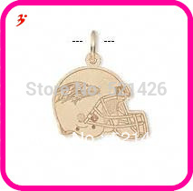 50pcs a lot wholesale sport gold plated Baltimore Ravens football helmet charms