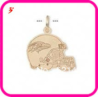 free shipping 50pcs a lot wholesale sport gold plated Baltimore Ravens football helmet charms