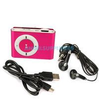 Clip Metal Mini USB MP3 Music Media Player Support 1GB 2GB 4GB 8GB TF Card