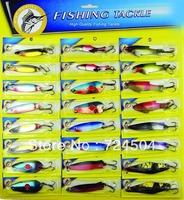 Freeshipping - high quality 24pcs/set Lure fishing lure n24 paillette set lure set fishing tackle set fishing bait hooks