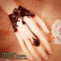 Vintage royal wind sparkling set auger drop lace tassel bracelet wristband goths wristiest belt