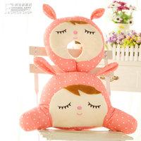 Small plush toy cloth doll angela rabbit lumbar pillow neck pillow set