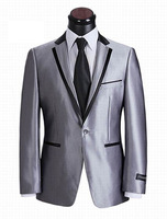 Free Shipping, Brand 1 Pair (Coat and Pants) Fashion Wool Suit for Men Top Quality Guaranteed 1 Button