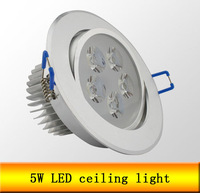 5W 450LM CE LED downlight, AC85-265V,include the drive,warm white/pure white high power led lighting Free shipping