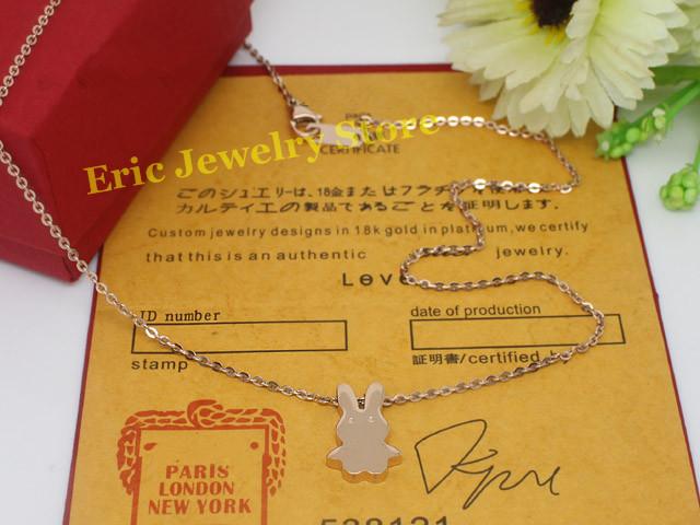 Free Shipping Fashion Necklace Cute Pendants Famous Brand Jewelry Logo Printed High Original(Dust Bag ,Gift Box) #CTN12(China (Mainland))