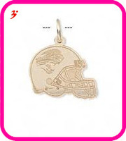 free shipping 50pcs a lot wholesale sport gold plated Jacksonville Jaguars football helmet charms