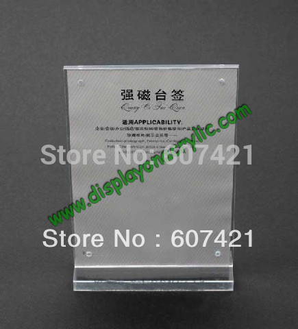 Modern T shape Counter top A5 Size acrylic sign holders for sign,menu, poster display(China (Mainland))