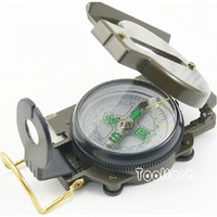 Free shipping new 3pcs/lot Hiking Outdoor Sports Pocket Army Green Compass, Camping Travel Portable Mini Compass with Magnifer