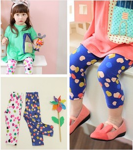 Korean Style Factory Direct Wholesale Children Girls Summer Three-quarter Leggings Girls Cotton Legging 5PCS Fast Free Shipping