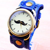 Free shipping Fashion and popular of 3 colors men's watch with real leather bank quartz watch