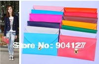 Free Shipping 2013 Wholesale Multicolor Women's Envelope Clutch Chain Purse Lady Tote Shoulder PU Handbag H888