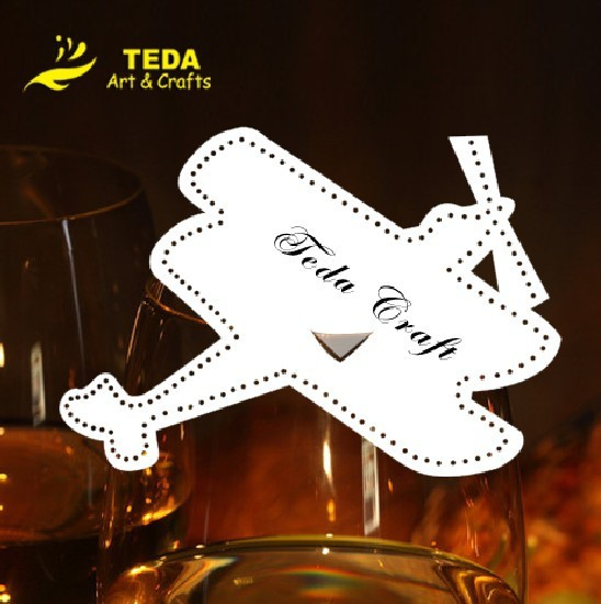 airplane place cards on wine glass(China (Mainland))