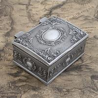Vintage Retro Metal Petwer Tin Jewelry Gift Box