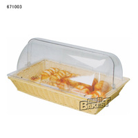latest transparent kitchen basket rectangular bread basket cover BAKEST #671003