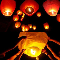 Chineses Lantern Sky Lantern Kongming Lantern Flying Wishing Lamp Wedding Party Paper Lights 16468