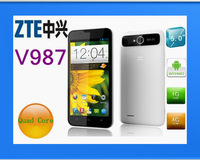 free shipping zte v987 Double SIM latest and best, 1Android Smartphone Double core Android 4.03 MTK6577 4.5 'Screen(CH)