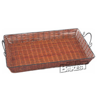 hot sale bread basket large wrought iron bread rattan basket X bread rattan basket BAKEST