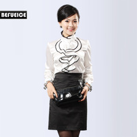 Gentlewomen befueice summer white shirt ruffle - b90365