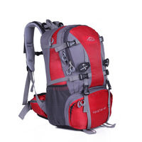 Free Shipping 40L Red Travel Backpack Sports Waterproof Hiking Camping Backpack Rucksack