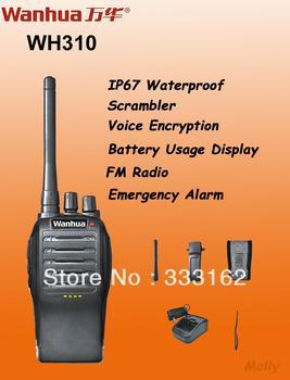 WH310 IP67 Waterproof Radio/two way radio,Emergency alarm,FM Radio,Scrambler,Voice encryption,PTT ID,DTMF,2Tone,5Tone signaling