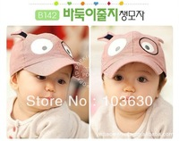 Free shipping 5pcs=1 lot Wholesale hats during the spring and autumn new cute dog children baseball cap children beanie cap
