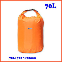 Free Shipping 70L Waterproof Dry Bag for Boating Floating Kayaking Camping Orange