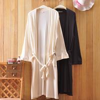 Summer lovers 100% cotton waffle creamy white robe bathrobes bathrobe 2  Free shipping