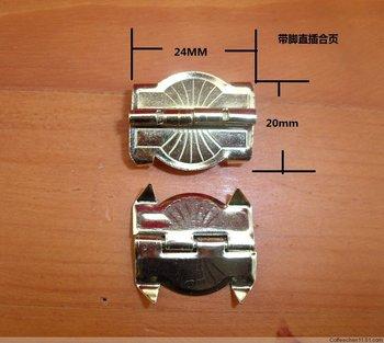 Packaging Hardware hinge legs flat hinge  line 24 * 20MM hinge jewelry box hinge
