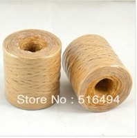 Factory direct supplier!Free shipping high quality 200m per Roll huge paper raffia ribbon cord/ Raffia rope for Gift Wrap & Deco