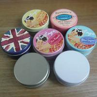 1 15-25g circle lithospermum ointment lipstick diy soap cosmetics small tin box small aluminum case sub-boxing