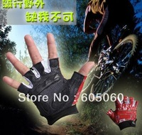 Free shipping 2013 hot style outdoor tactical gloves ride gloves automobile race semi-finger hiking/camping gloves 1105