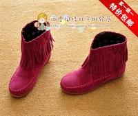 Vivi fashion summer all-match tassel boots elevator single boots tassel boots  FREE SHIPPING