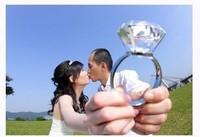 Home furnishings Photography props photo props wedding dress big diamond ring big diamond ring props 8cm diamond ring