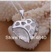 Free shipping+wholesale 2013 hot sale fashion jewelry 925 Sterling silver necklaces  gift box  B0361