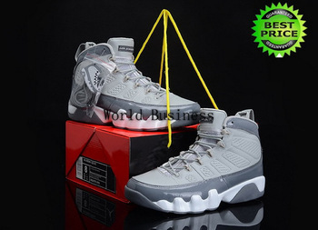 Fast Shipping Wholesale Famous Trainers Retro J9 IX Men's Sports Sneakers men fashion Basketball Shoes grey