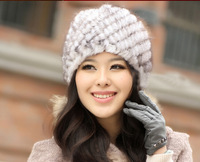 Genuine Mink Fur Hat Winter Fur Headdress Warm Fashion Cap Hats Headgear