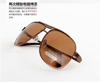 Free shipping Polarized sunglasses male commercial elegant box mirror simple fashion