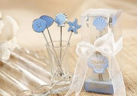 Free Shipping European-style wedding creative gift cartoon blue sea fruit fork cutlery (12pcs/lot)