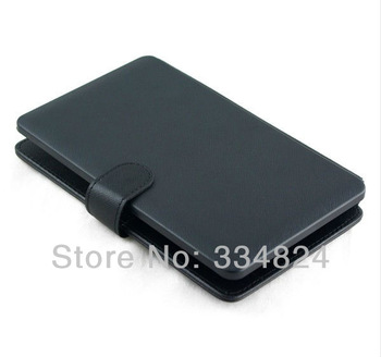 "Free Shipping mini micro USB Keyboard Leather Cover Case for 7"" Tablet PC MID PDA VIA 8650"